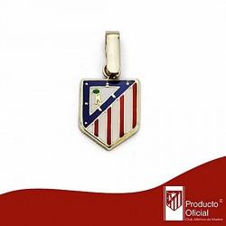 Colgante escudo Atlético de Madrid oro de ley 9k 12mm. esmalte [6998]