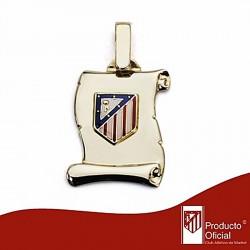 Pergamino escudo Atlético de Madrid oro de ley 9k pequeño [7002]