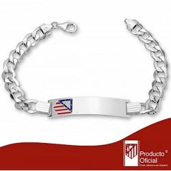 Esclava escudo Atlético de Madrid Plata de ley barbada 21,5cm. [7024]