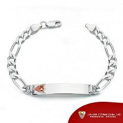 Esclava escudo Sevilla FC plata de ley cadete maciza [8512]