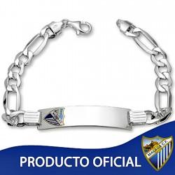 Esclava escudo Málaga CF plata de ley caballero hueca [8508]