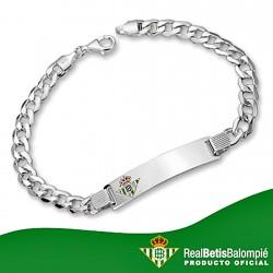 Esclava escudo Real Betis plata de ley cadete hueca [8495]