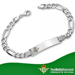 Esclava escudo Real Betis plata de ley cadete hueca [8493]