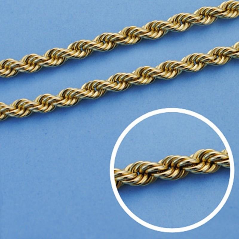 precio más bajo con diversificado en envases mayor descuento Cordón cadena oro 18k salomónico 50cm. ligero 4.5mm. [AA1572]