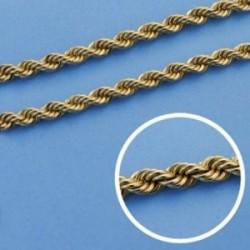 Cordón cadena oro 18k salomónico 50cm. normal 4mm. [AA1582]