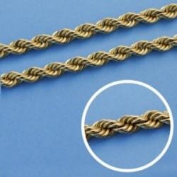 Cordón cadena oro 18k salomónico 50cm. normal 5mm. [AA1585]