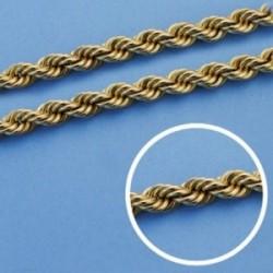 Cordón cadena oro 18k salomónico 60cm. normal 5.5mm. [AA1588]