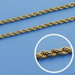Cordón cadena oro 18k salomónico 50cm. normal 3mm. [AA1594]