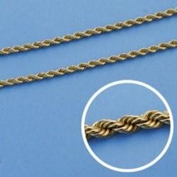 Cordón cadena oro 18k salomónico 40cm. normal 2mm. [AA1596]