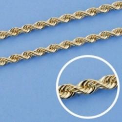 Cordón cadena oro 18k salomónico 50cm. ligero 3.5mm. [AA1598]