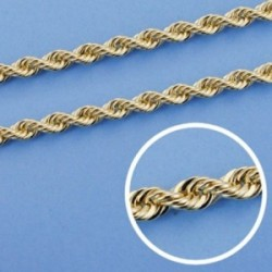 Cordón cadena oro 18k salomónico 50cm. ligero 3.75mm. [AA1599]