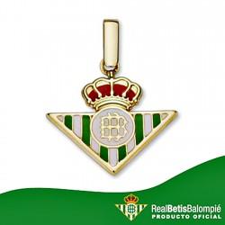 Colgante escudo Real Betis oro de ley 9k 21mm. esmalte [8704]