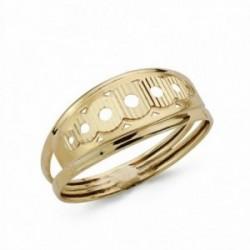 Sortija oro 9k tallada círculos [AA1735]