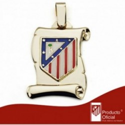 Pergamino escudo Atlético de Madrid oro de ley 9k grande [AA1897]