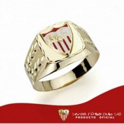 Sello escudo Sevilla FC oro de ley 9k esmaltado [AA1898]