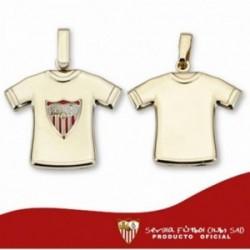 Camiseta Sevilla FC oro de ley 9k escudo estampado [AA1900GR]