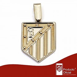 Colgante escudo Atlético de Madrid oro de ley 9k 20mm. liso [6992]