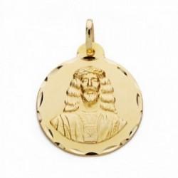 Medalla oro 18k Cristo Medinaceli 22mm. labrado tallado [AA2544]