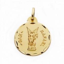 Medalla oro 18k San Rafael 20mm. labrado tallado [AA2547]