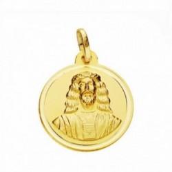 Medalla oro 18k Cristo Medinaceli 18mm. lisa bisel [AA2580GR]