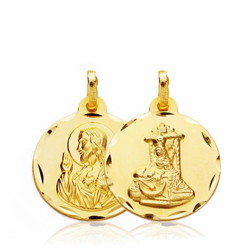 bfc4d12ab Medalla escapulario oro 18k Virgen Angustias C. Jesús 18mm. [AA2655]
