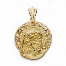 Cabeza rostro Cristo oro 18k aureola [AA2310]