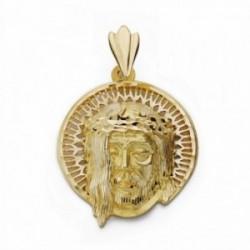Cabeza rostro Cristo oro 18k aureola  [AA2311]