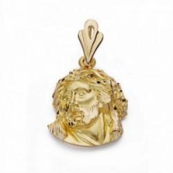 Cabeza rostro Cristo oro 18k Murillo 21mm. [AA2312]