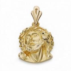 Cabeza rostro Cristo oro 18k Murillo 28mm. [AA2314]