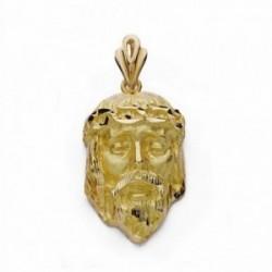 Cabeza rostro Cristo oro 18k 31mm. [AA2315]