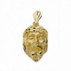 Cabeza rostro Cristo oro 18k 28mm.  [AA2316]