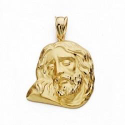 Cabeza rostro Cristo oro 18k 26mm. [AA2440]