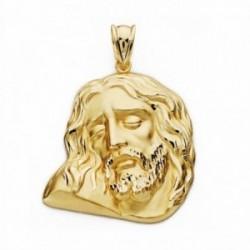 Cabeza rostro Cristo oro 18k 30mm. [AA2441]