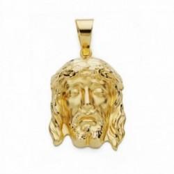 Cabeza rostro Cristo oro 18k Buena Muerte 27mm. [AA2446]