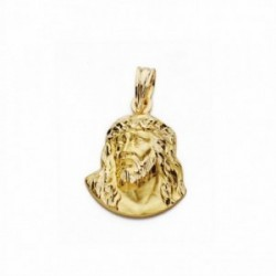 Cabeza rostro Cristo oro 18k Murillo 18mm. [AA2447]