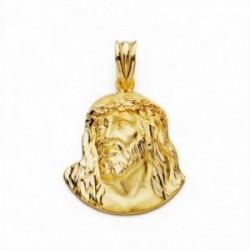 Cabeza rostro Cristo oro 18k Murillo 23mm. [AA2449]