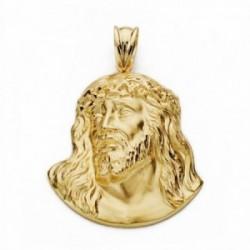 Cabeza rostro Cristo oro 18k Murillo 32mm. [AA2451]
