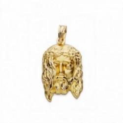 Cabeza rostro Cristo oro 18k 23mm. [AA2452]