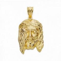 Cabeza rostro Cristo oro 18k 33mm. [AA2455]