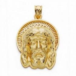 Cabeza rostro Cristo oro 18k  Buena Muerte orla 35mm. [AA2456]
