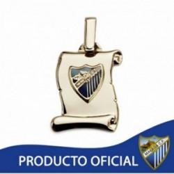 Colgante pergamino escudo Málaga CF oro de ley 9k pequeño [AA2648]