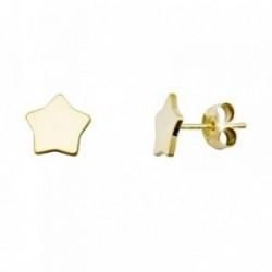 Pendientes plata Ley 925m. dorada estrellas brillo [AA3650]