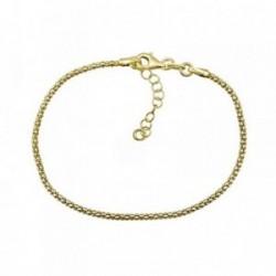 Pulsera plata Ley 925m. dorada cadena coreana [AA4347]