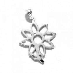 Colgante plata Ley 925m flor maciza calada [803]