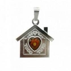 Colgante plata Ley 925m casa corazón murano TODO TUYO [1103]