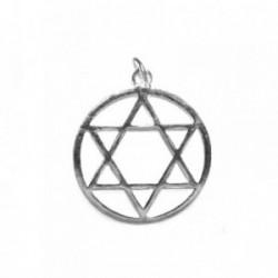 Colgante plata Ley 925m estrella david calado redondo [1154]