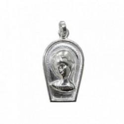 Colgante plata Ley 925m Medalla Virgen Niña [1189]