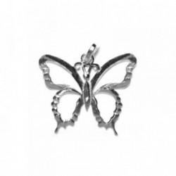 Colgante plata Ley 925m Mariposa calada [1192]