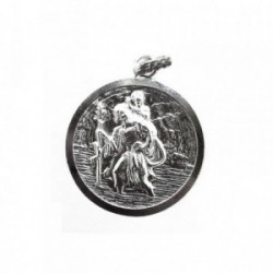 Colgante plata Ley 925m Medalla SAN CRISTÓBAL [1274]