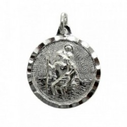 Colgante plata Ley 925m Medalla SAN CRISTÓBAL [1275]